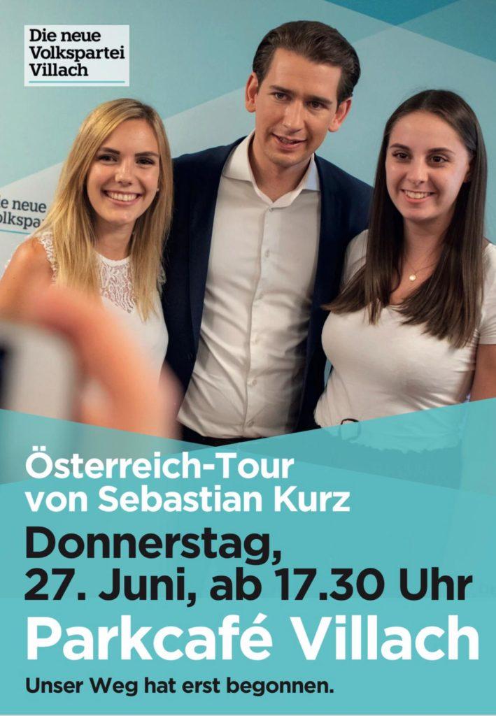 Sebastian Kurz in Villach