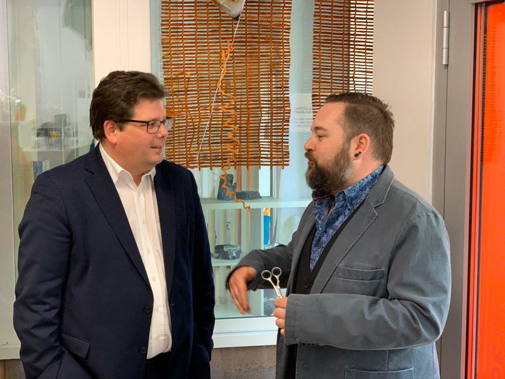 Sandro Semmler und Christian Pober im Gespräch